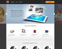Home page Mock up design
