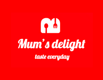 Mum's Delight Online Food Portal UI/UX website Design