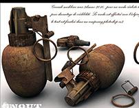 grenade rouillée 3d