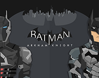 batman arkham knight flat illustration