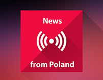 Flat icon set for mobile app - Polskie Radio