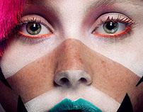 Geometric Beauty Make Up - Retouching