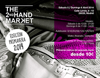 Logotipo y cartel mercadillo The Second Hand Market