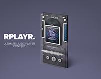 RPLAYR. Music app concept.