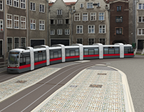 Low poly Tram