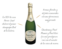 Diseño carta de champagne