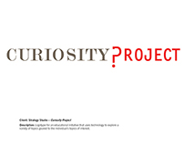 Curiosity Project by Strategy Studio