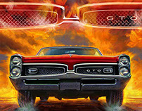 American Muscle Car Paintings
