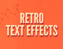Vintage Retro Text Effects