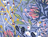 Floral fantasy pattern.