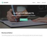Square - Modern Email + Builder / Editor Access
