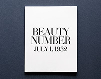 Beauty Number: July 1, 1932