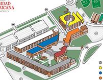 Mapa de la Universidad Iberoamericana