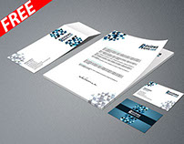 Business Card Letterhead Envelope Template mockup FREE