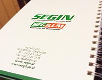 Producción Gráfica - Diseño cuaderno bi-anual SEGIN