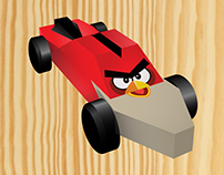 Angry Bird-Inspired Pwd Car