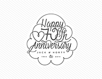 Anniversary table cards