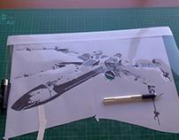 Stencil X-Wing