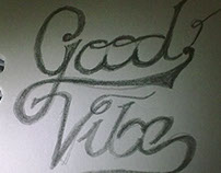 Good Vibe lettering