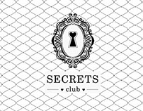 SECRETS night club. Logo, corporate ID.