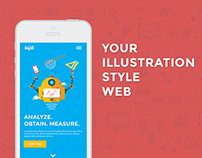 Your illustration style web