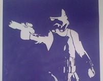 Stencil Stormtrooper