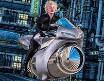 Marylin Rides out...