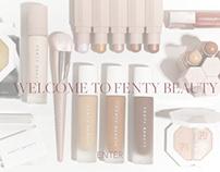 Fenty Beauty Website Intro Page