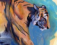 Gouache Tiger