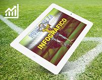 Rumo ao Hexa: Infográfico de Campanha durante a Copa.