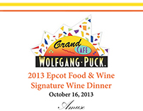 Wolfgang Puck 2013 Food and Wine Menu