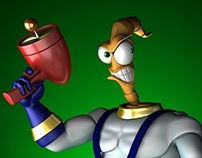 Earthworm Jim - 3D Fan Art