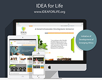 Idea for Life: NGO Website Design and Development