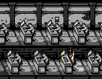 8-bit Office Illustration