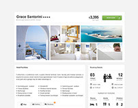 Hotel detail page concept