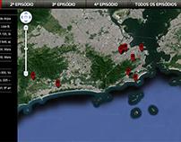 Mapa dos episódios da série Fora de Controle