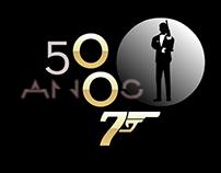 Infográfico especial sobre os 50 anos do James Bond