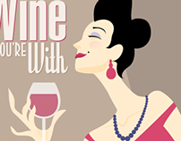 Wine sign illustration