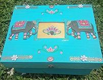 Elephant wooden Memory Box