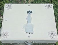 Wooden Bridal Jewelry box bridal trinket box