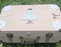 Trunk Style Bridal Memory box Small
