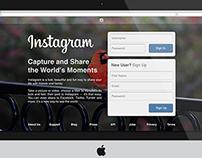 Instagram Desktop Interface