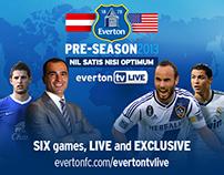 Everton Pre-Season 2013 logo + design style