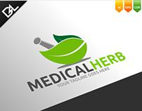 Medical Herb Logo Template