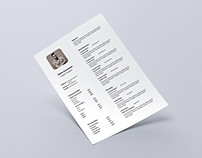 Free Super Simple Resume Template