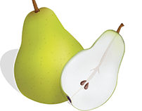 Vector image of pears