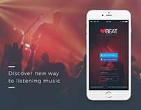 Music app for mobile Template