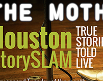 Flyers for The Moth Houston
