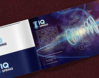 IQ Spring. Logo, 3D model, brochure.
