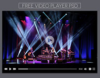 Free YouTube Video Player PSD